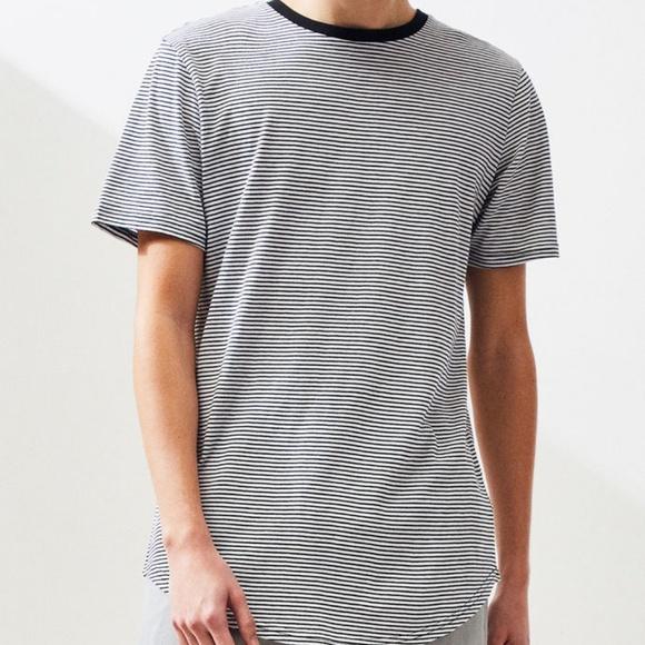 PacSun Other - PACSUN Scallop Fit Black Stripes T Shirt